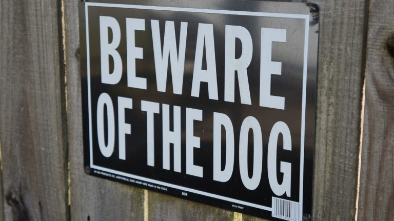 beware of dog signboard- home safety hacks