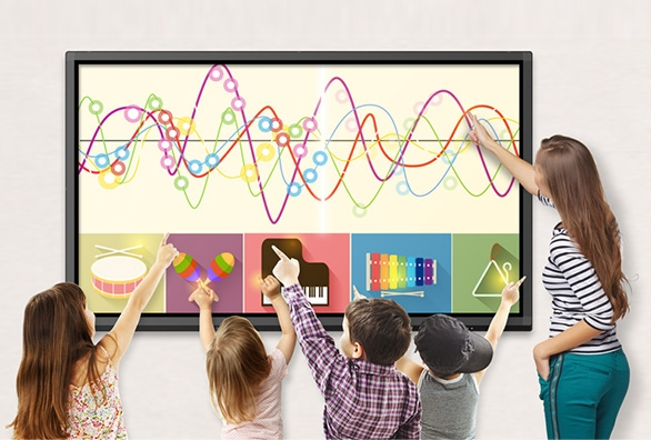 multi-touch on interactive flat panel display
